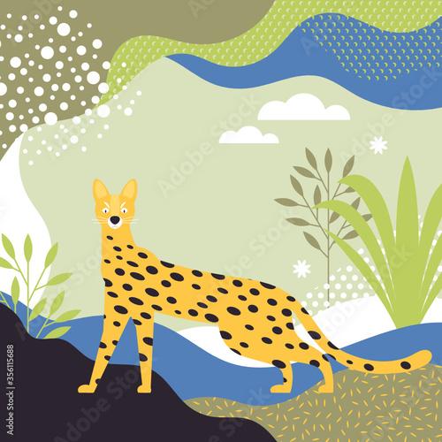 Jungle Leopard vector illustration Canvas Print