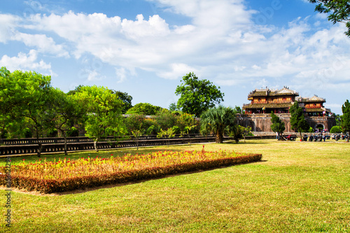 HUE, VIETNAM - SEPTEMBER 02: Palace at Citadel of Hue in Vietnam on Sep 02, 2011 Canvas Print