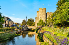 Westgate At The Great Stour River In Canterbury, England