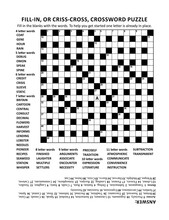 Criss-cross (or Fill-in, Else Kriss-kross) Crossword Puzzle Game Of 19x19 Grid, Fitting Letter Or A4 Size Paper, With General Knowledge Family Friendly Content. Answer Included.