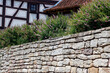 canvas print picture - House, Wall, Bluehen, Herpf, Thueringen, Germany, Europe