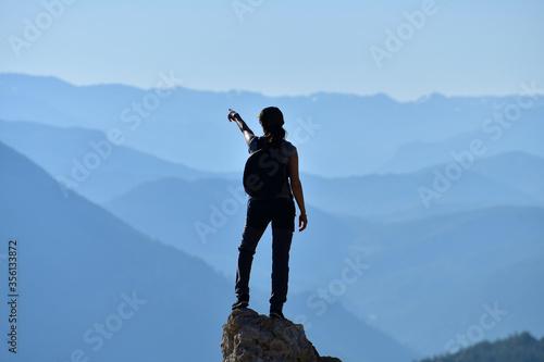 An Adventurous Brave Woman Fototapet