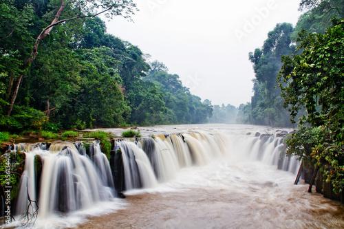 Tad-Pa Suam waterfall in Champasak province, Laos