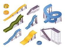 Isometric Set Of Water Slides ...
