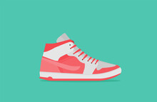 Sneakers. Flat Vector Icon Iso...