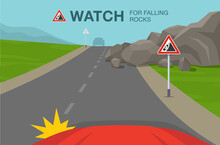 Driving A Car. Watch For Falli...
