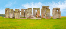 Panoramic View Of Stonehenge A...
