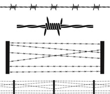 Barbed Wire Logo. Isolated Bar...