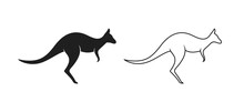 Kangaroo Logo. Isolated Kangaroo On White Background