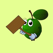 Guava Mascot For Advertising And Icon