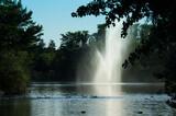 Fototapeta Tęcza - krajobraz park zieleń woda natura fontanna