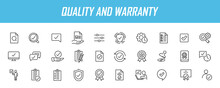 Set Of Linear Quality Icons. Guarantee Icons In Simple Design. Vector Illustration