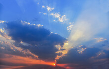 Sunbeams Or Rays Breaking Thro...