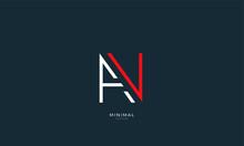 Alphabet Letter Icon Logo AN