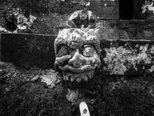 Black And White Gargoyle Sculpture Bali Temple