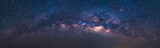 Panorama astronomy view universe space shot of milky way galaxy with stars on a night sky background.