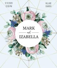 Delicate Wedding Invitation Wi...