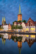 Leinwandbild Motiv Old town of Lubeck, Germany