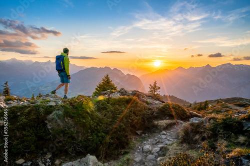 Fotografia Sonnenuntergang in den Alpen