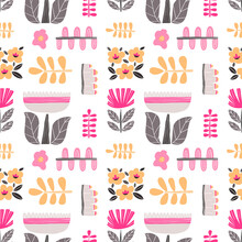 Seamless Pattern With Cut Out ...