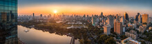 Wide Panoramic View Of Bangkok...