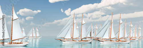 Obrazy Regaty   sailboat-sailing-in-the-sea