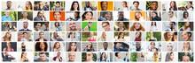 Collage Of Diverse Multiethnic...