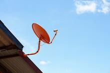 Orange Satellite Dish Dish For...