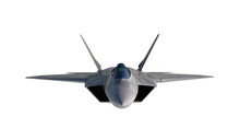 F -22 Raptor , American Military Fighter Plane.Jet Plane. Isolate White. 3d Rendering