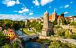 Leinwanddruck Bild - View of Bautzen and the Hauptspree River in Germany
