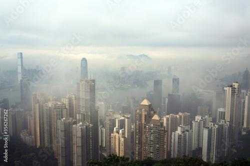 Foto hong kong foggy scenes