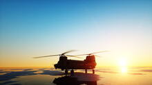 Military Helicopter Chinook, W...