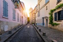 Montmartre District Of Paris. ...
