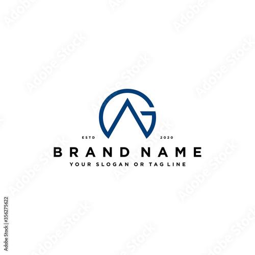 letter AG logo design vector Canvas Print