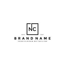 Letter NC Logo Design Vector