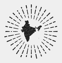 Vintage Map Of India. Grunge S...