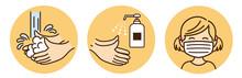 Washing Hands Mask Illustratio...