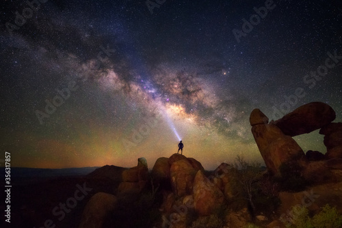Foto Milky way at Big Bend National Park