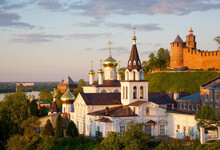 Orthodox Church With Domes And...