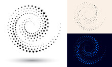 Halftone Spiral As Icon Or Bac...