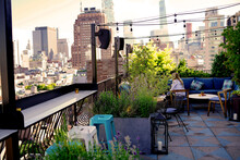 Roof Top Terrace In New York C...