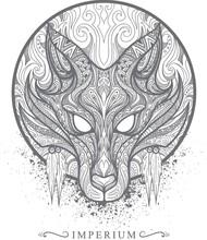 Intricate Wolf Design