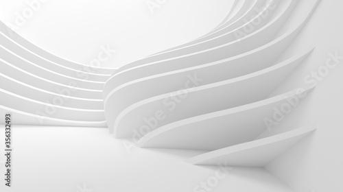 Fotografía Modern Structure Wallpaper. White Business Texture