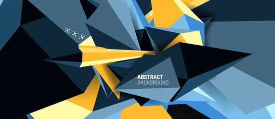 Trendy simple triangle abstract background, dynamic motion concept. Vector Illustration For Wallpaper, Banner, Background, Card, Book Illustration, landing page