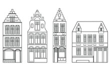 Set Of European Houses In The ...