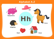 Alphabet Letter H Vector Illustration