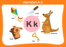 Alphabet Letter K Vector Illus...