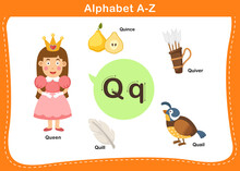 Alphabet Letter Q Vector Illus...