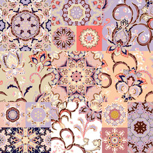 Seamless Vector Patchwork Tile...