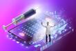 canvas print picture - Telemedicine concept with remote diagnostics and consultation